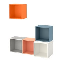 EKET wall-mounted cabinet combination, multicolour