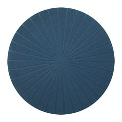 PANNÅ place mat, dark blue Diameter: 37 cm