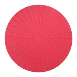 PANNÅ place mat, red Diameter: 37 cm