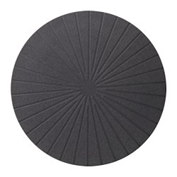 PANNÅ, Place mat, black