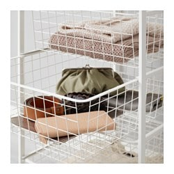 Antonius Frame And Wire Baskets White