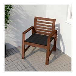 Perfect ÄPPLARÖ Armchair, Outdoor, Brown Stained Brown