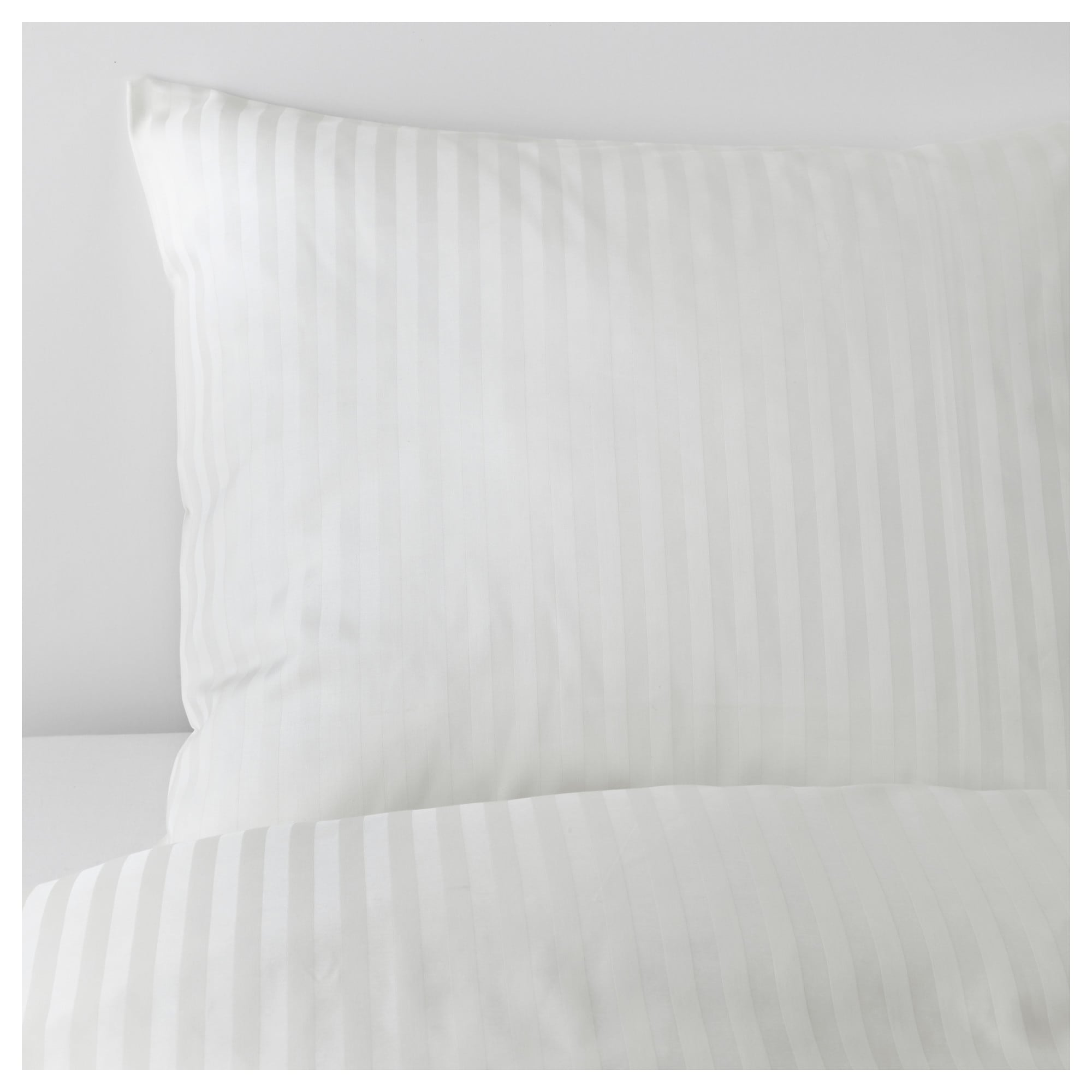 NATTJASMIN duvet cover and pillowcase(s), white Thread count: 310 /inch