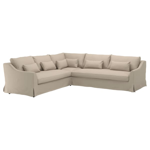 Sectional cover, 5-seat sofa right FÄRLÖV Flodafors beige