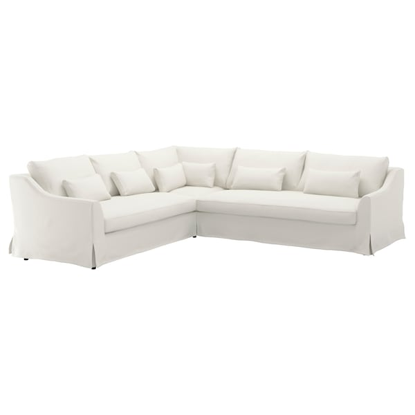 Sectional cover, 5-seat sofa right FÄRLÖV Flodafors white