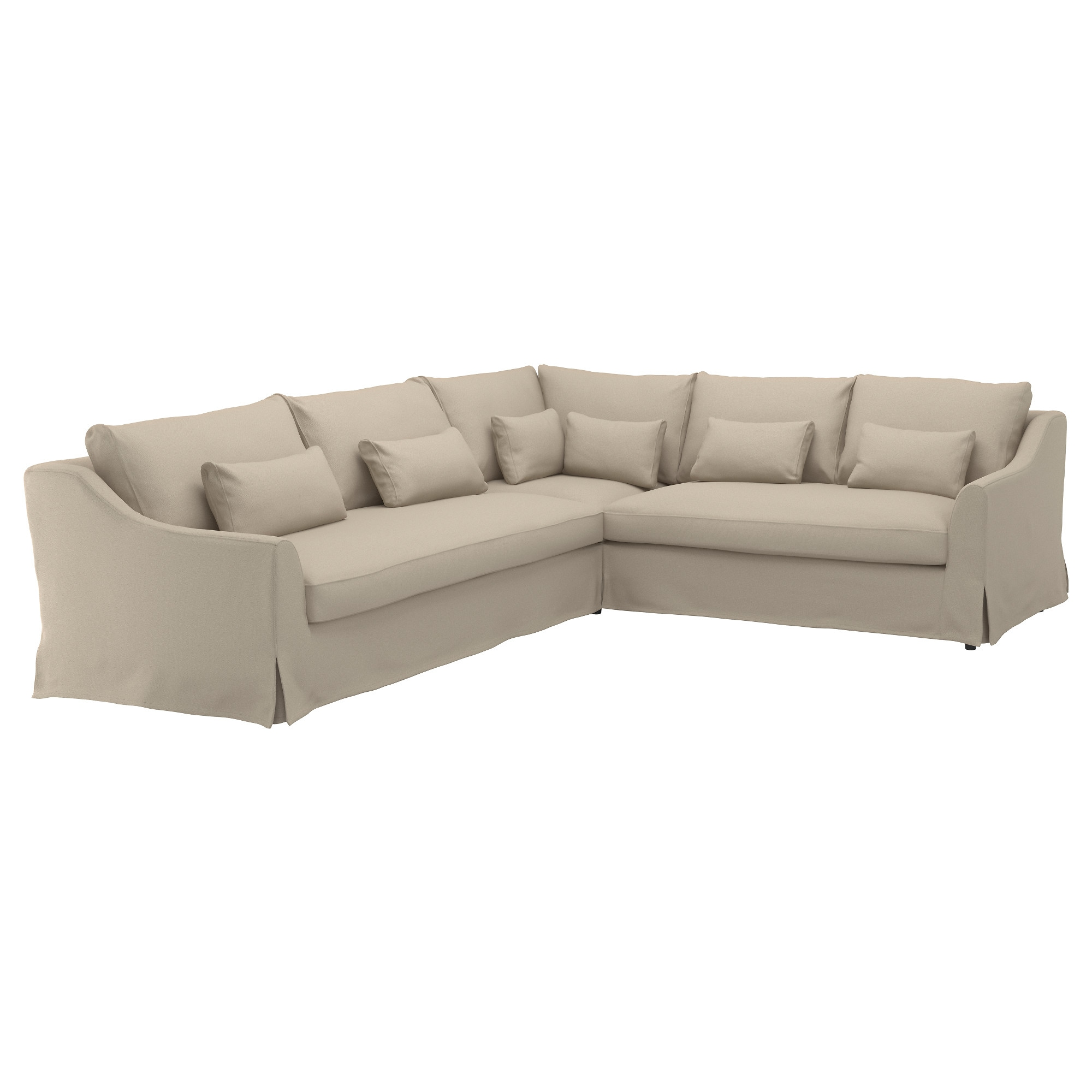 "F""RL–V Sectional 5 seat sofa left Flodafors beige IKEA"