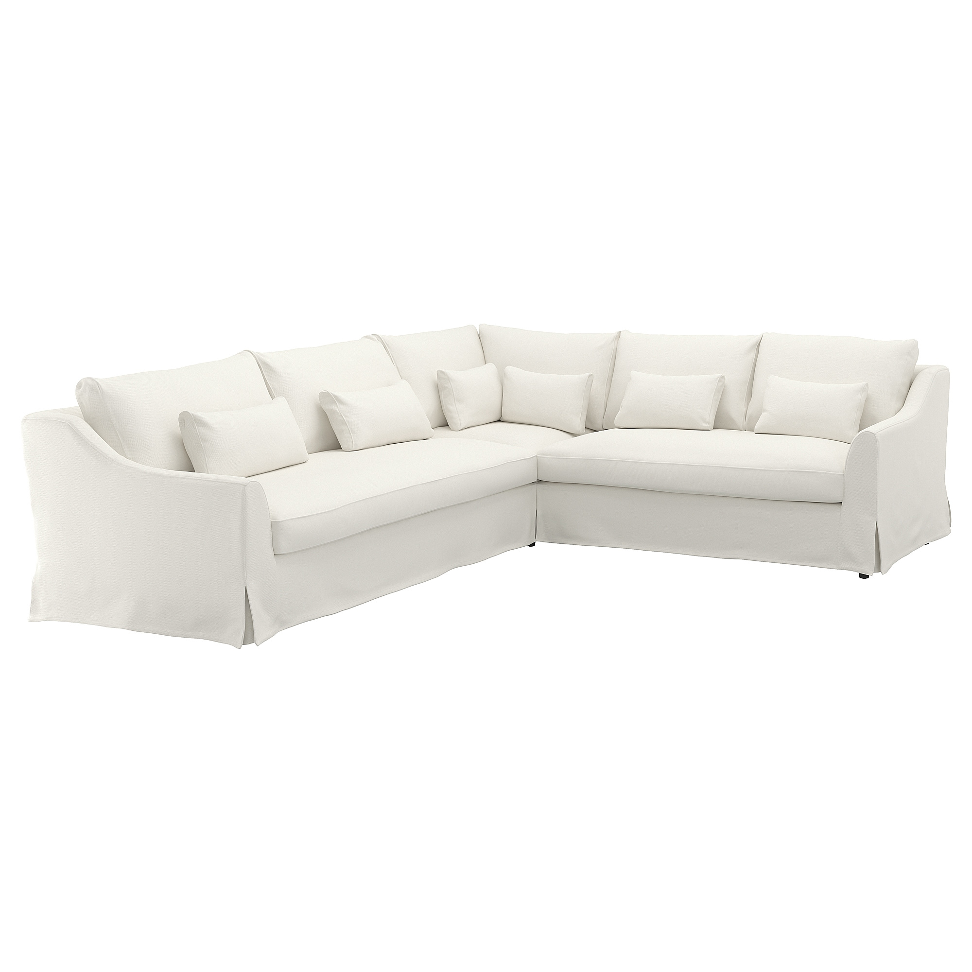 "F""RL–V Sectional cover 5 seat sofa left Flodafors white IKEA"