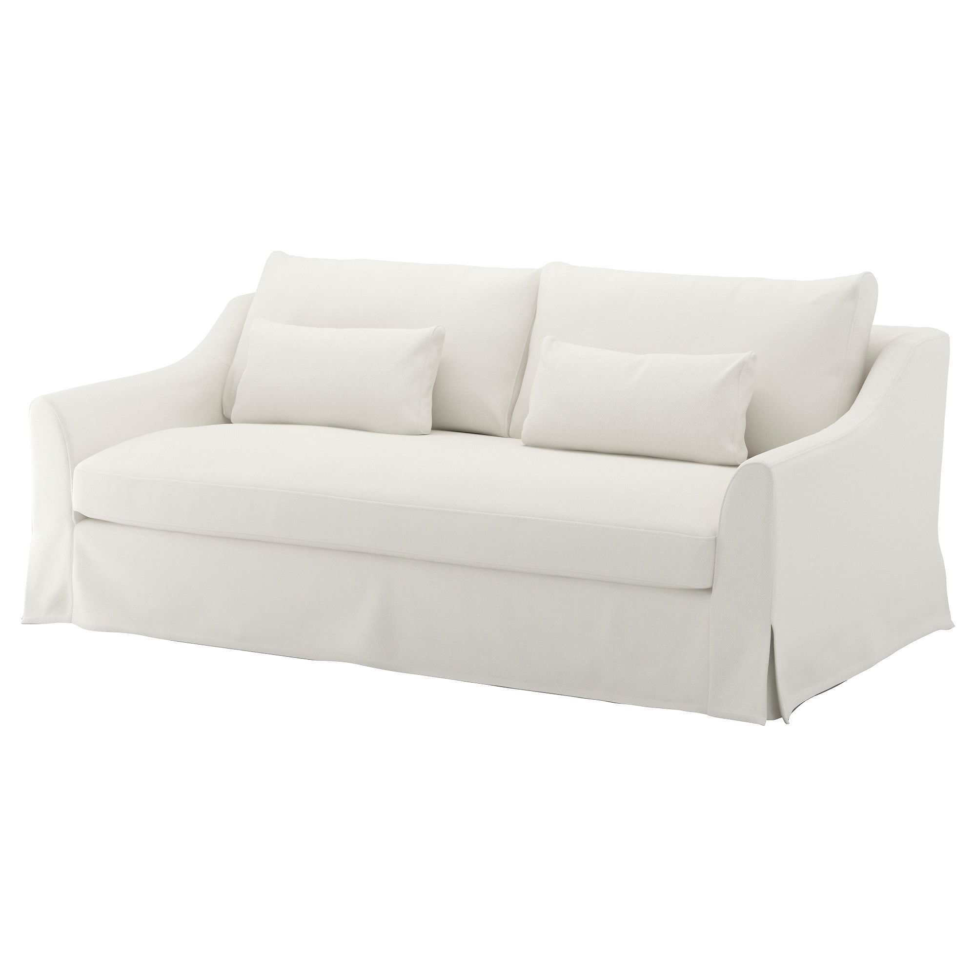 fabric sofas  modern  contemporary  ikea - fÄrlÖv sofa flodafors white height including back cushions    width
