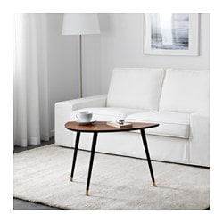 LÖVBACKEN side table, medium brown