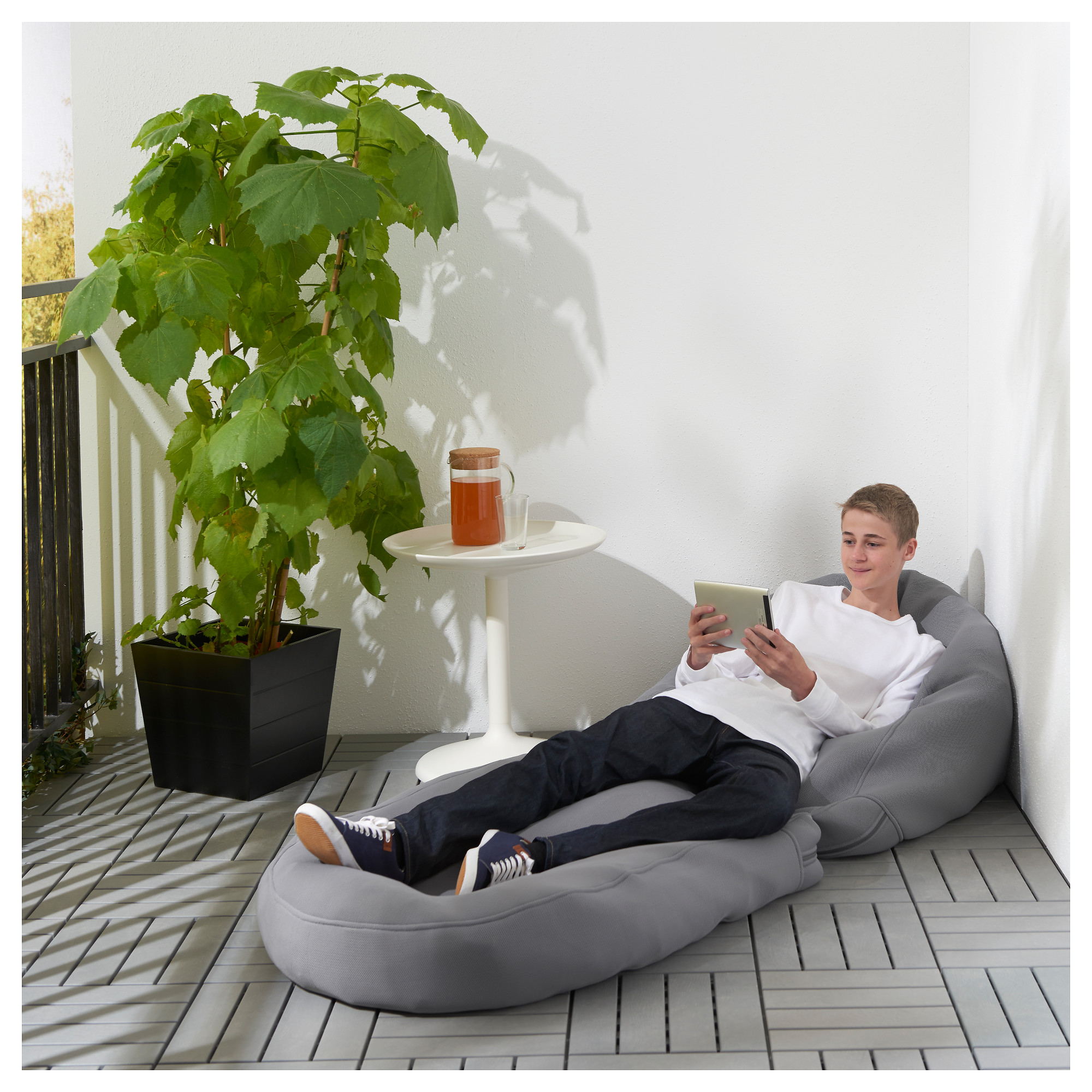 BUSSAN Beanbag in outdoor orange IKEA