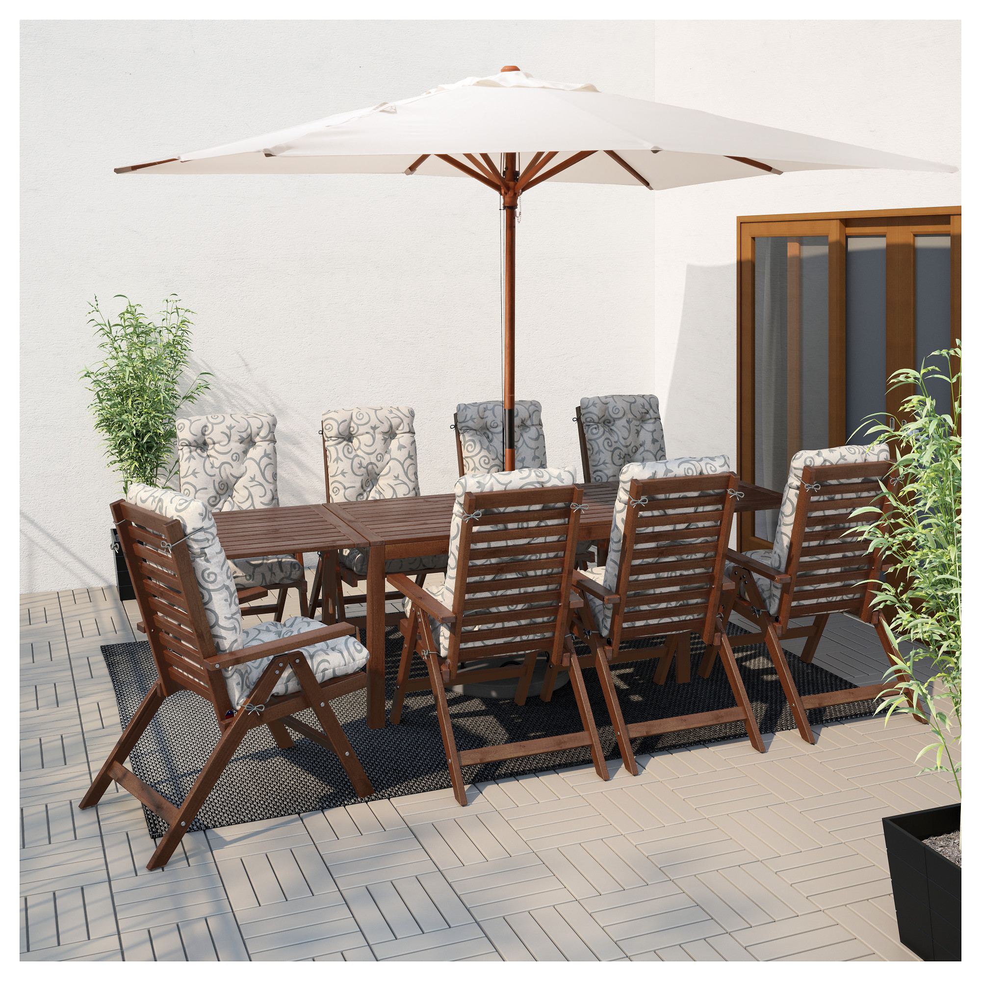 PPLAR Drop Leaf Table Outdoor