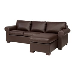 EKTORP sectional, 3-seat, right, Kimstad brown