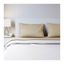 NATTJASMIN sheet set, beige Thread count: 310 square inches Thread count: 310 square inches