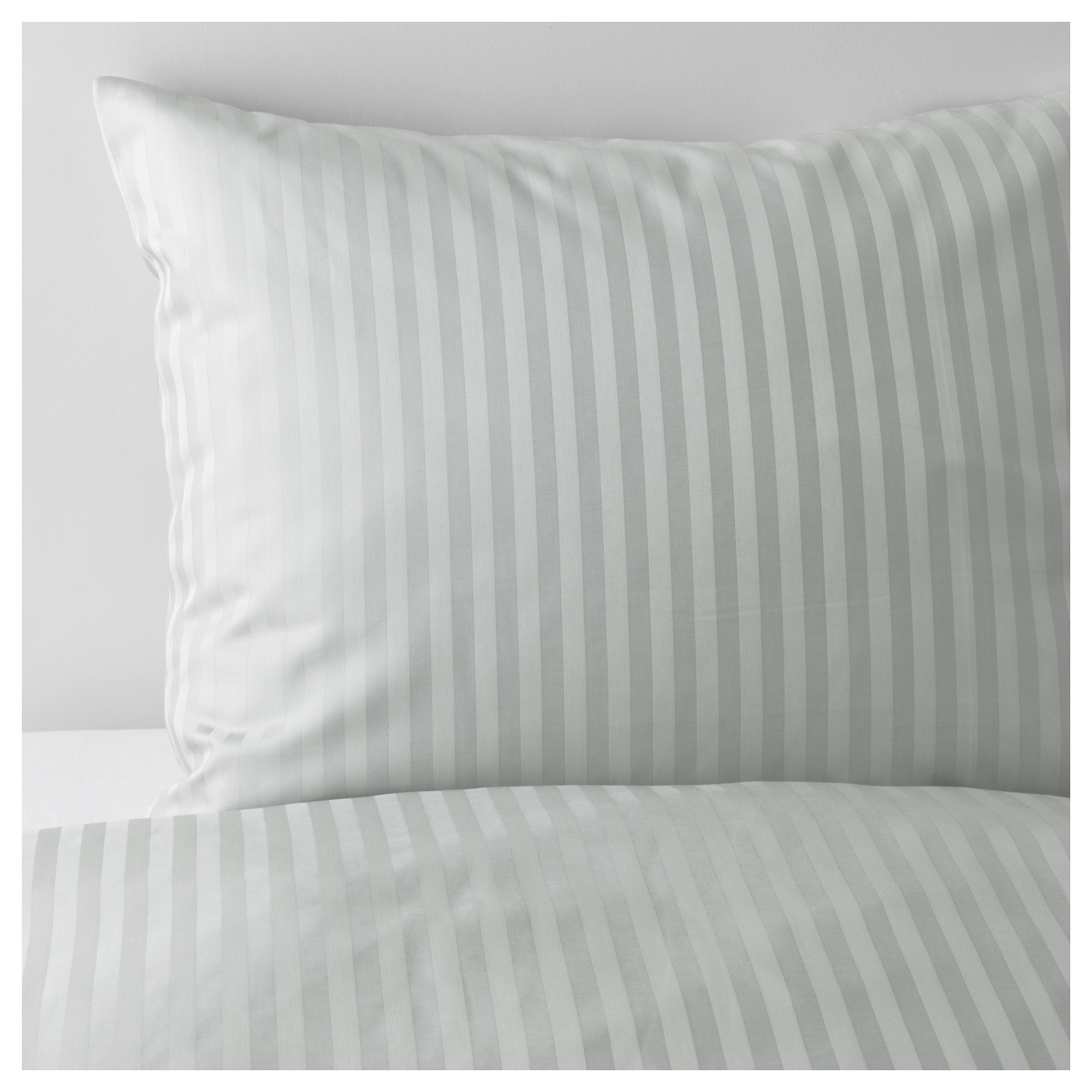 NATTJASMIN duvet cover and pillowcase(s), light gray Thread count: 310 /