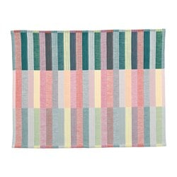 MITTBIT, Place mat, pink turquoise, light green
