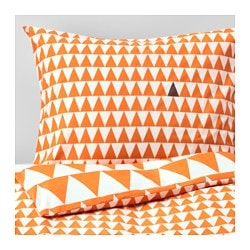 "STILLSAMT duvet cover and pillowcase(s), light orange Thread count: 144 square inches Duvet cover length: 86 "" Duvet cover width: 64 "" Thread count: 144 square inches Duvet cover length: 218 cm Duvet cover width: 162 cm"