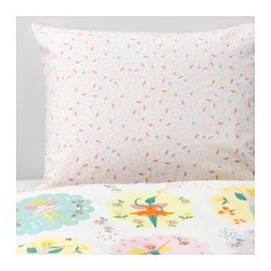 LATTJO duvet cover and pillowcase(s), fairy, light pink