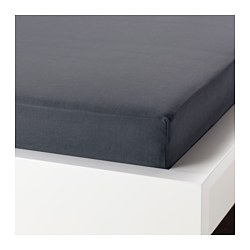 PUDERVIVA fitted sheet, dark grey Thread count: 104 /inch² Length: 200 cm Width: 160 cm