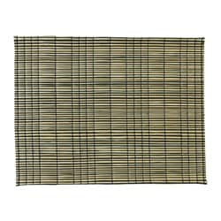 MÖDA, Place mat, seagrass natural, black