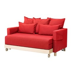 ASKENÄSET cover sofa-bed, Finnsta red
