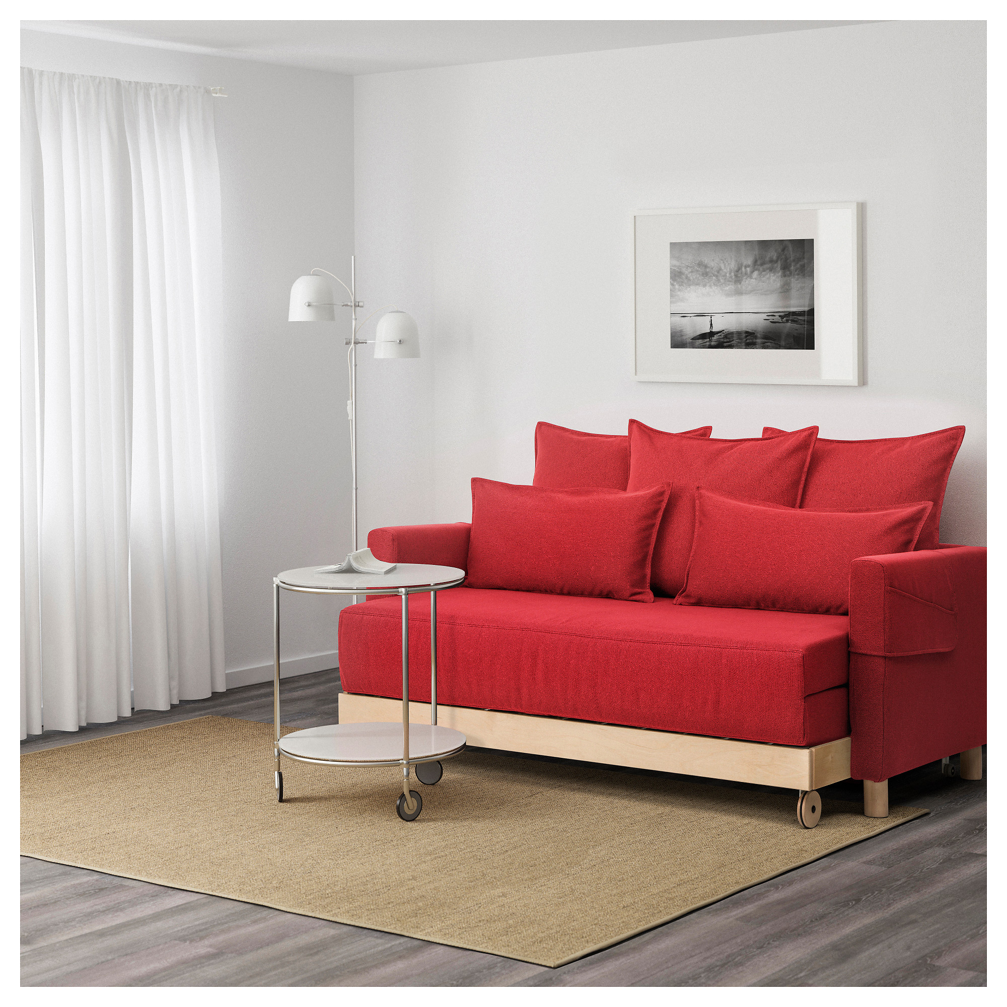 "ASKEN""SET Sofa bed Finnsta red IKEA"