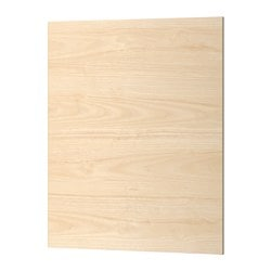 "ASKERSUND cover panel, light ash effect ash Width: 24 5/8 "" Height: 30 "" Thickness: 1/2 "" Width: 62.5 cm Height: 76.2 cm Thickness: 1.3 cm"