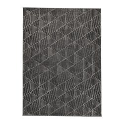 STENLILLE rug, low pile, grey Length: 240 cm Width: 170 cm Thickness: 12 mm
