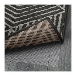Stenlille Rug Low Pile Gray Gray Ikea