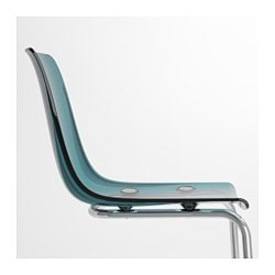TOBIAS Chair, Blue, Chrome Plated JD 54.990