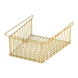 KALLAX wire basket, brass color