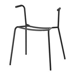 DIETMAR underframe for chair with armrests, black