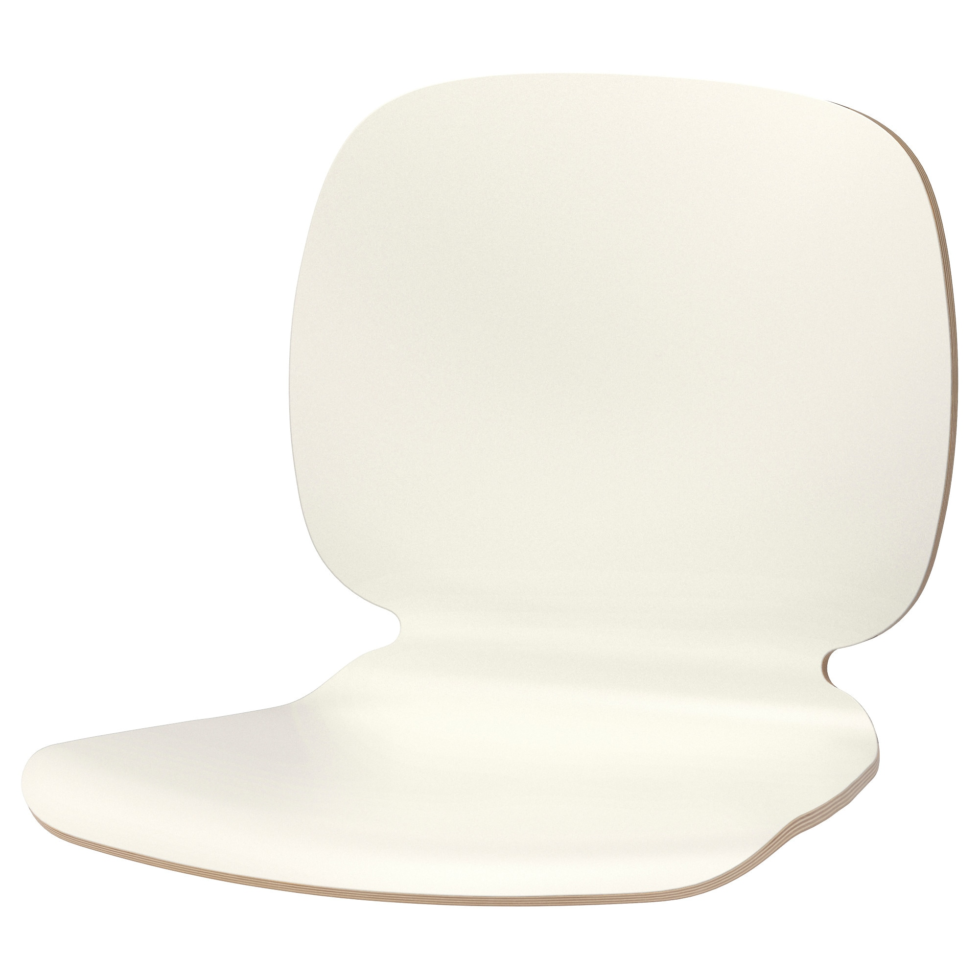 SVENBERTIL Seat Shell, White Tested For: 243 Lb Height: 15 3/8