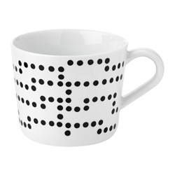 AVSIKTLIG mug, dots Height: 8 cm Volume: 36 cl