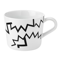 AVSIKTLIG mug, zigzag pattern Height: 8 cm Volume: 36 cl