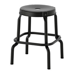 RÅSKOG stool, black Tested for: 100 kg Seat diameter: 30 cm Width: 44 cm
