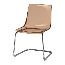 TOBIAS chair, brown, chrome-plated Width: 55 cm Depth: 56 cm Height: 82 cm