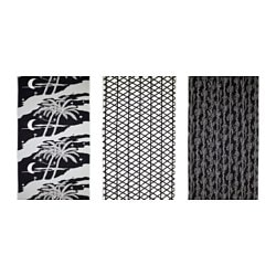 AVSIKTLIG pre-cut fabric, assorted patterns, black Weight.: 230 g/m² Length: 300 cm Width: 150 cm