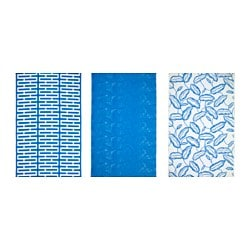 "AVSIKTLIG pre-cut fabric, assorted patterns, blue Weight: 0.75 oz/sq ft Length: 118 "" Width: 59 "" Weight: 230 g/m² Length: 300 cm Width: 150 cm"