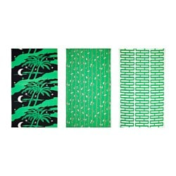 AVSIKTLIG pre-cut fabric, assorted patterns, green Weight.: 230 g/m² Length: 300 cm Width: 150 cm