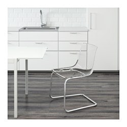 tobias chaise transparent chrom - Chaise Transparente