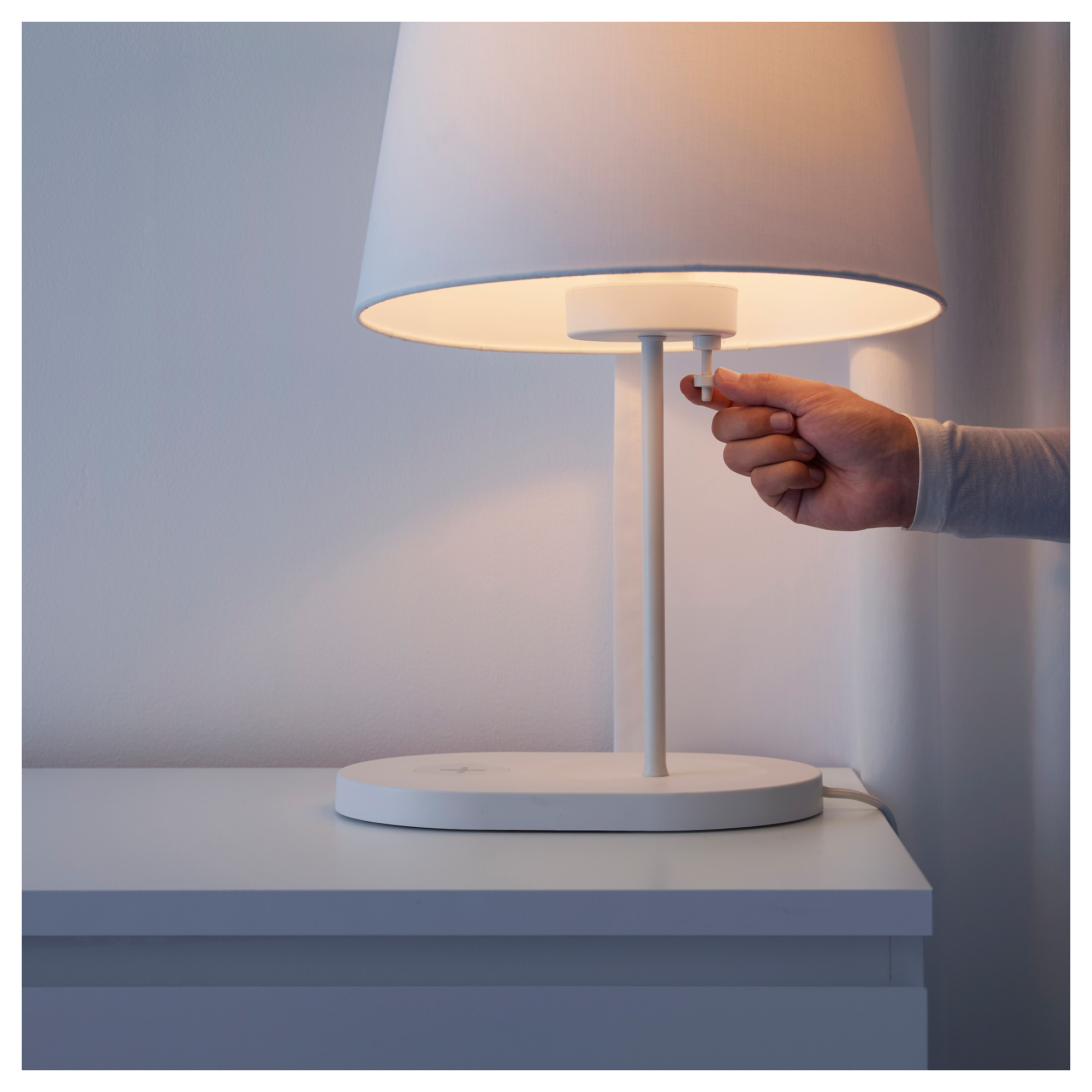 VARV Table Lamp Base W/charging+LED Bulb   IKEA