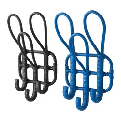 AVSIKTLIG rack with 3 hooks, assorted colours Length: 26 cm Depth: 13 cm Height: 45 cm