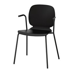 "SVENBERTIL armchair, black, Dietmar black Tested for: 243 lb Width: 20 7/8 "" Depth: 19 5/8 "" Tested for: 110 kg Width: 53 cm Depth: 50 cm"
