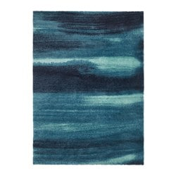 SÖNDERÖD rug, high pile, blue