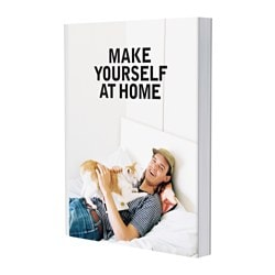 "EKEBOL book, Make yourself at home Pages: 128 pieces Width: 8 ½ "" Height: 11 ¼ "" Pages: 128 pieces Width: 21.8 cm Height: 28.5 cm"