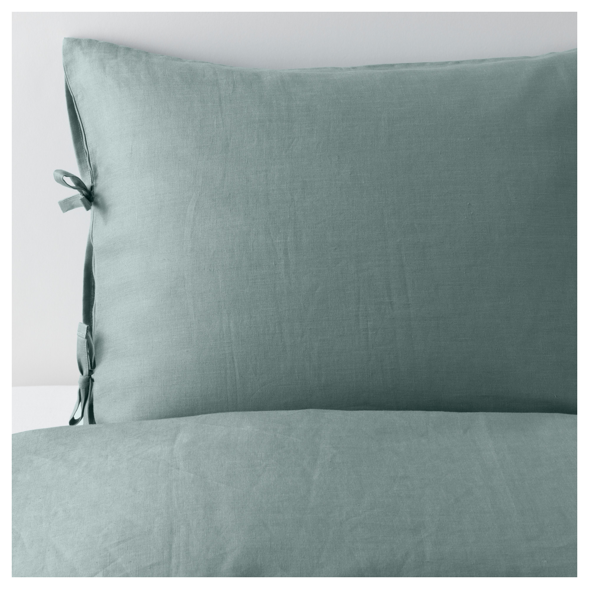 puderviva duvet cover and pillowcases green thread count 104 inch