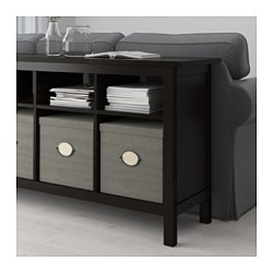 Beau HEMNES Console Table, Black Brown