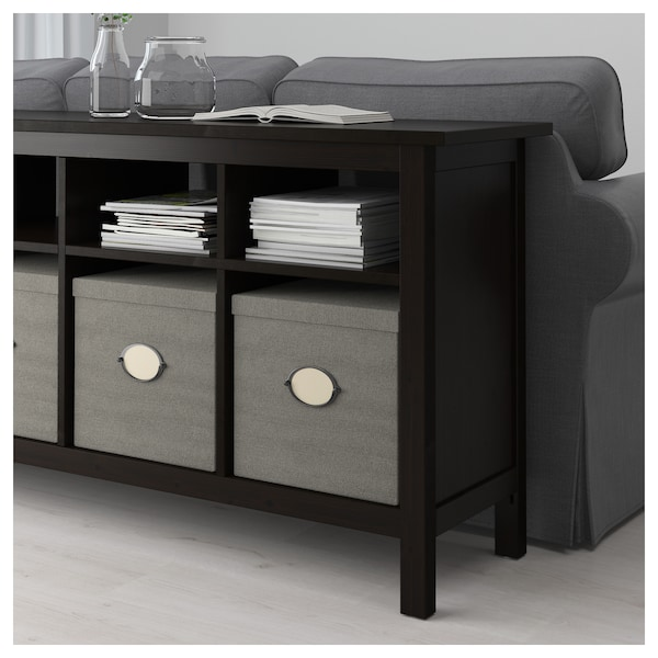 Awesome Hemnes Console Table Black Brown Home Interior And Landscaping Ferensignezvosmurscom