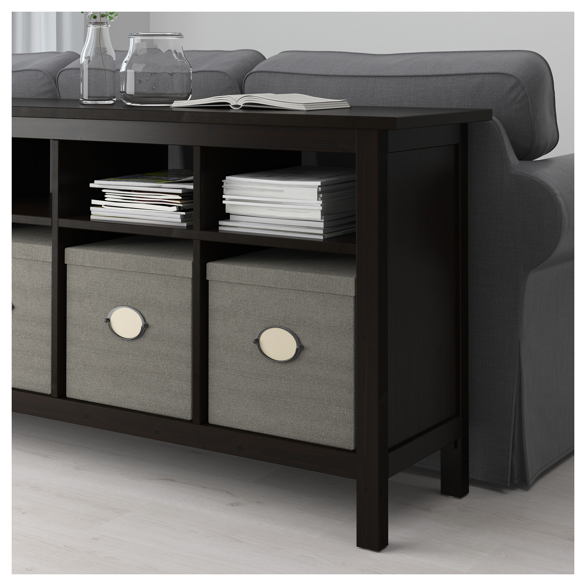 Console Table HEMNES Black Brown