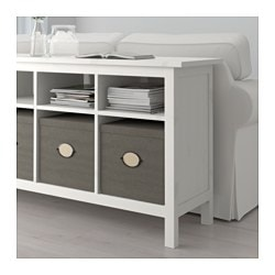 Hemnes Console Table White Stain
